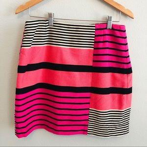 Ann Taylor LOFT Pink Striped Skirt | size 8P